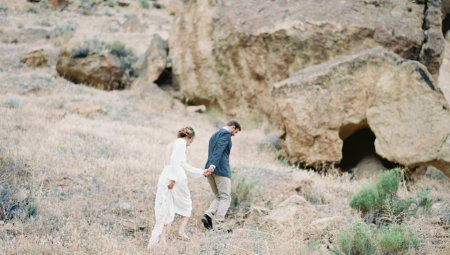 Outdoor Elopement in a Long Sleeve Gown